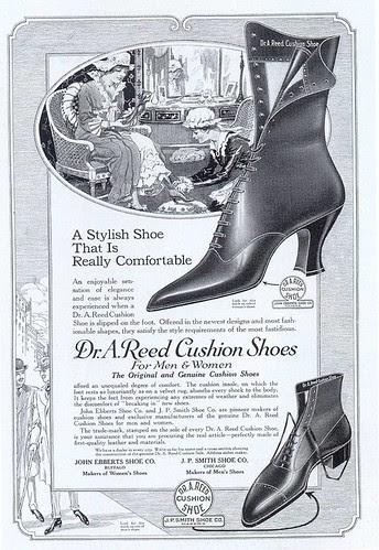 Dr. A. Reed Cushion Shoes ad, 1917