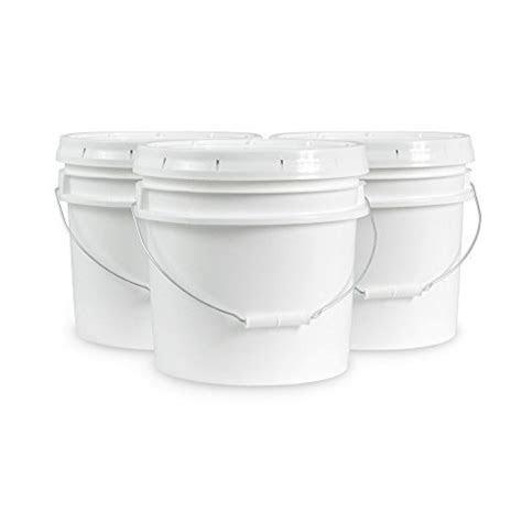 gallon food grade white plastic bucket  handle