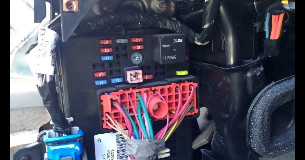 2008 Chevy Cobalt Fuse Box Diagram Wiring Site Resource