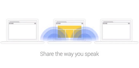 Chrome add-on shares your web links through sound bursts