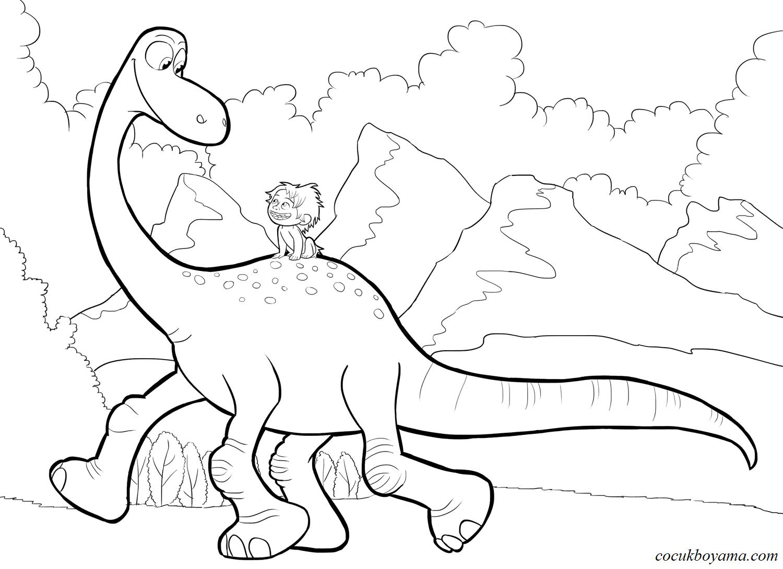 Iyi Bir Dinozor ücretsiz Boyama Resimleri