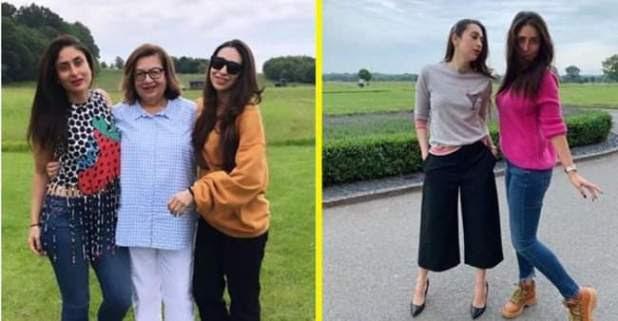 With mommy Babita, daughters Karisma & Kareena are enjoying vacation in England