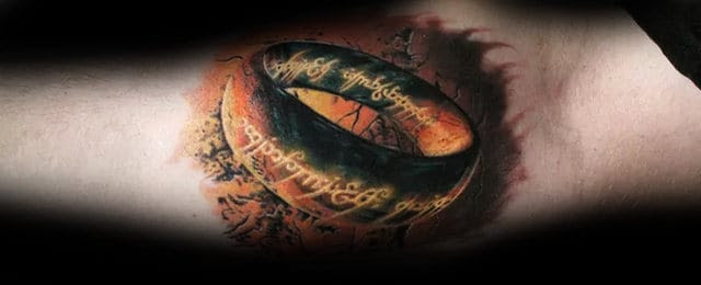 50 Lord Of The Rings Tattoo Designs For Men Tolkien Ink Ideas