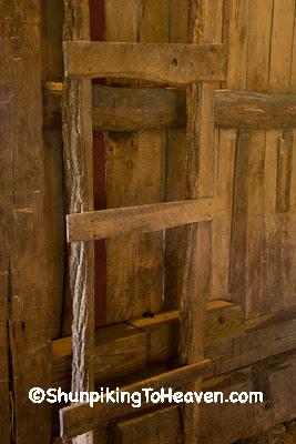Hayloft Ladder, Fiddelke Farm, Delaware County, Iowa
