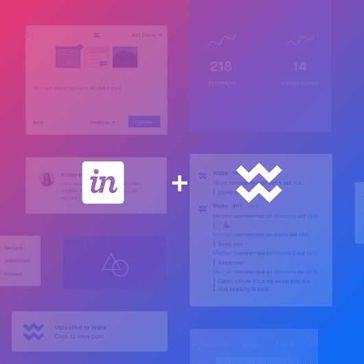 Wake joins InVision + announcing Wake Free