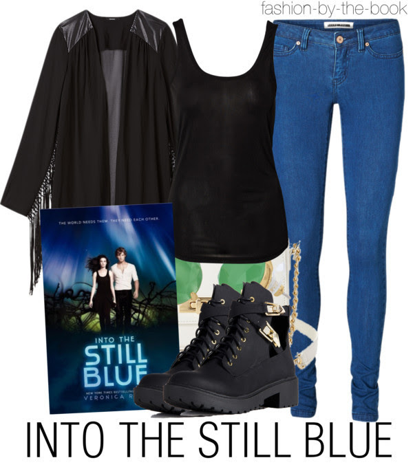 fashion-by-the-book:  Into The Still Blue by Veronica Rossi Find it here This book came out last Tuesday, and is the last book in the Under The Never Sky Trilogy.
