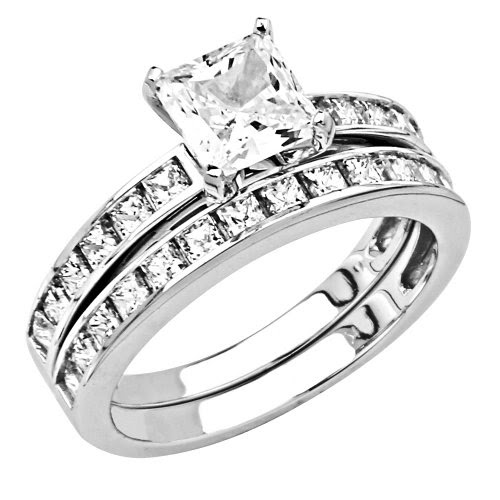 Jewelry Shopia's Collection: 14K White Gold 1.25 CT Center ...