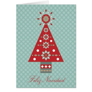 Feliz Navidad Southwestern Christmas Tree Greeting