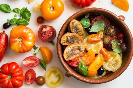 Tomato Salad With Anchovy Toasts Recipe