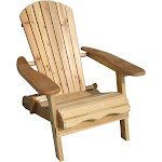 Living Accents Foldable Adirondack Chair Brown