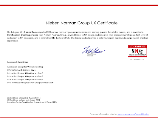 Dead chuffed to learn I\'ve passed the Nielsen Norman Group User ...