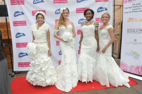 12th Annual Toilet Paper Wedding Dress Contest #TPDress