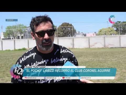 Pocho Lavezzi recorrió el Club Coronel Aguirre