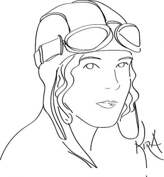 Aviacion Mujer Piloto De Avion Dibujo De Pilota Aviadora Para Pintar