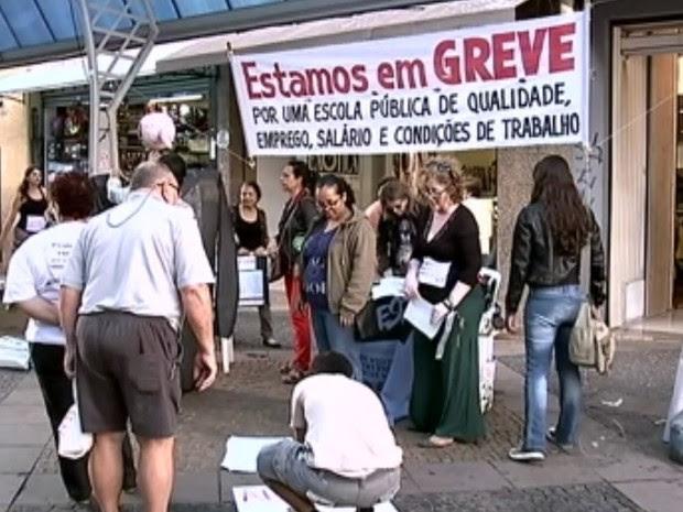 Greve começou em 13 de março no estado (Foto: Reprodução / TV TEM)