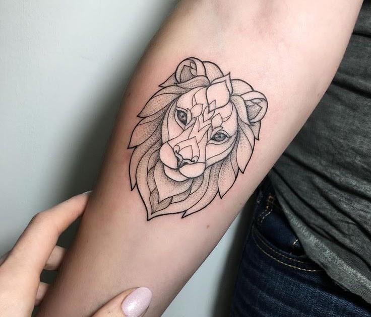Löwe sternzeichen frau tattoo