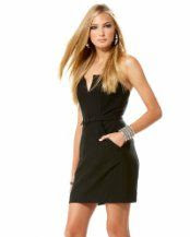Bebe Tailored Light Strapless Dress