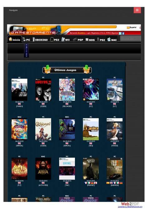 gamestorrents bittorrent juegos pc ps psp xbox