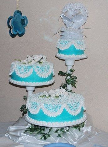cheap  tier wedding cakes  turquoise  lime green