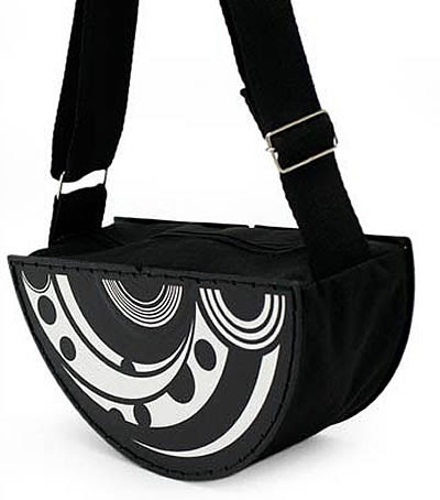 recycled record purse
