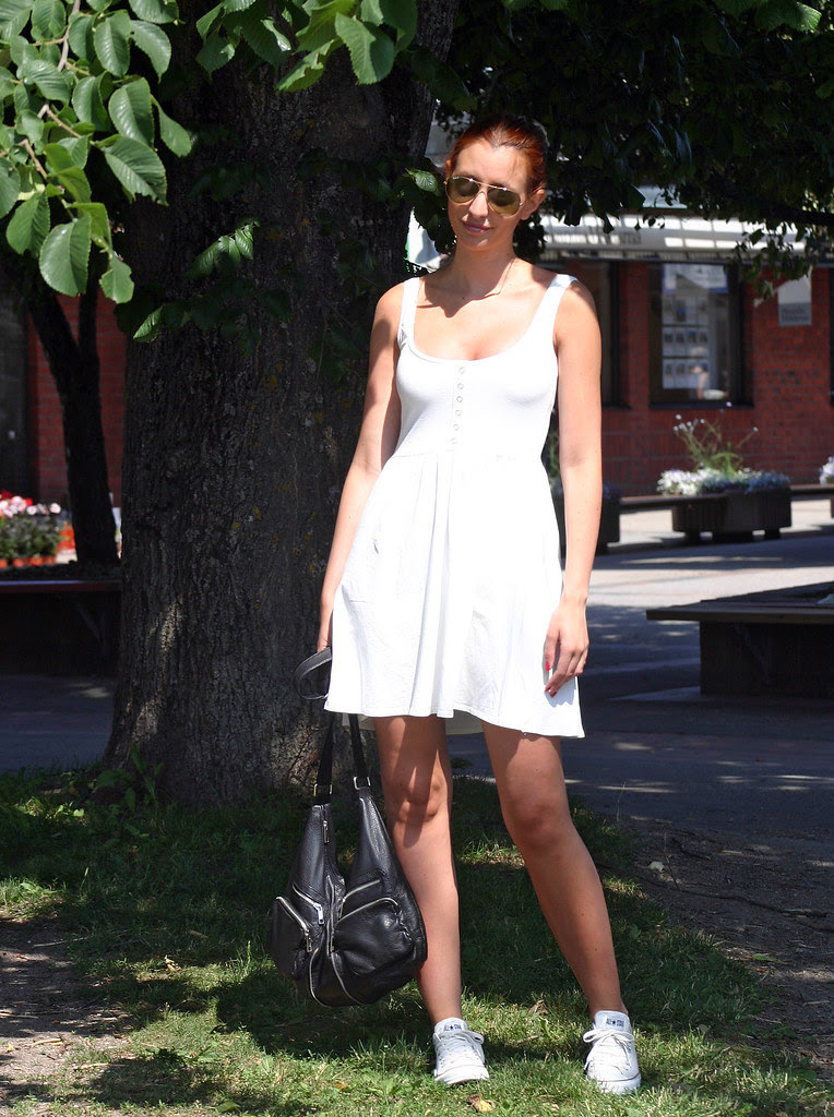 The girl in the white summer dress