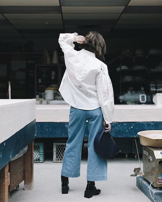 Le Fashion Blog Wide Leg Denim Pant Trend Via @kirstynkonig