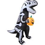 Santas Forest 90353 Inflatable T-Rex Skeleton 6ft