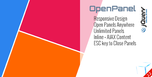 OpenPanel - Open Unlimited Responsive Panel Any where jQuery Plugin