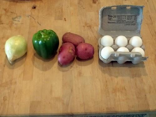 ingredients for scramble potato thing