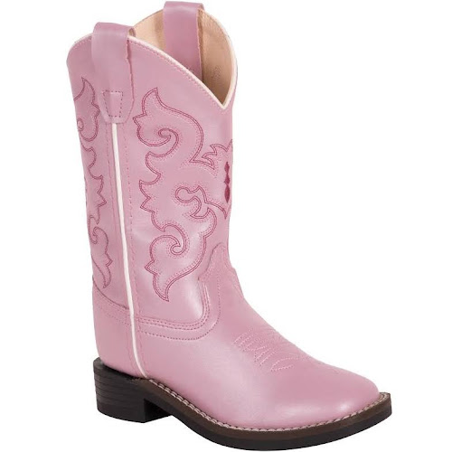 74d4ffa4fca Old West Girls' Pink Western Boots - Square Toe - Google Express