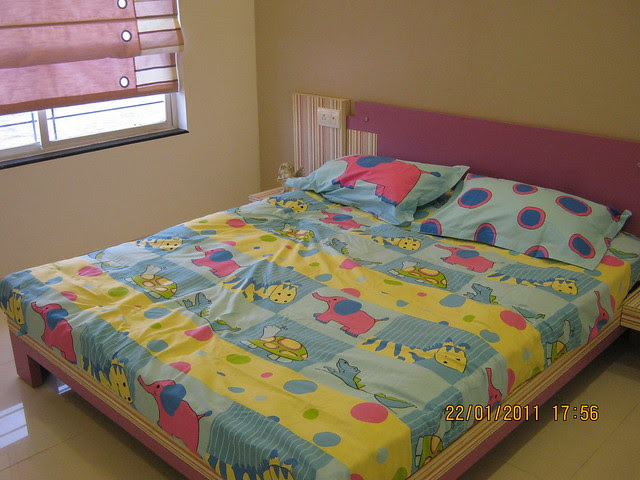 Visit to Neo City 1 BHK & 2 BHK Flats at Wagholi Pune 411 027 - 2 bhk sample flat - children's bedroom - 10 feet x 10 feet