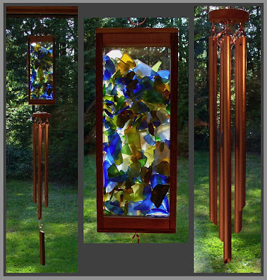 Coast Chimes, sale wind chime, week of May 30, kaleidoscope beach glass style