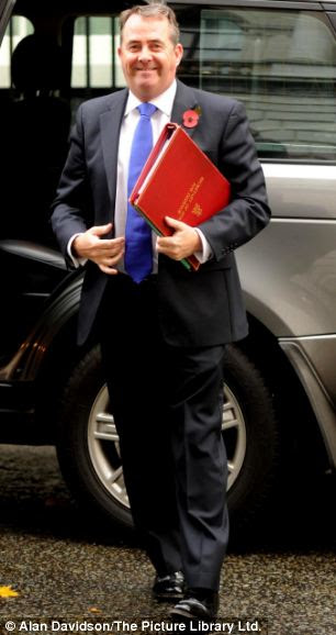 Defence Secretary Liam Fox, pictured today at Downing Street, has denied the Anglo-French deal will compromise British sovereignty