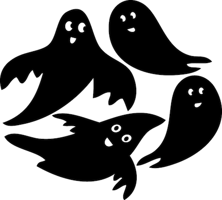 Ghost Wall Stickers Halloween h06