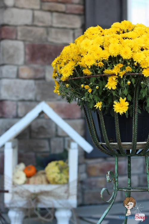 Atta Girl Says: Fall Home Tour Front Porch