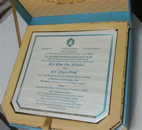 Gali Janardhan Reddy Daughter Wedding Invitation card