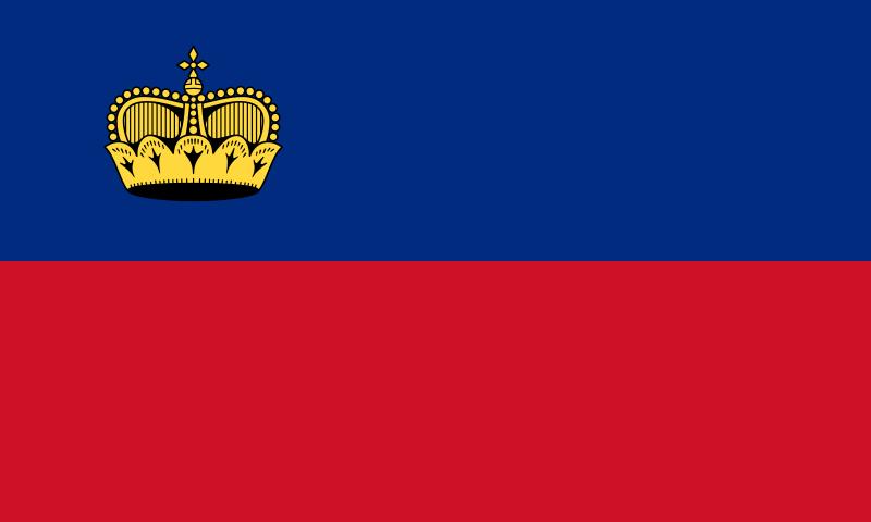 The Flag of the Principality of Liechtenstein