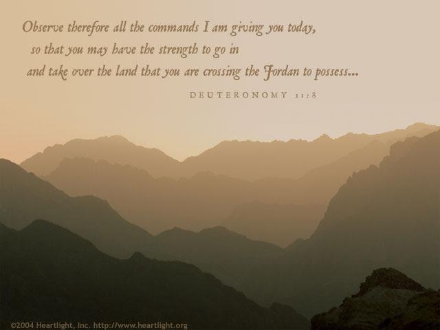 Inspirational illustration of Deuteronomy 11:8