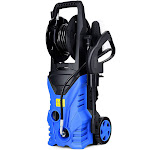 Gymax 2030PSI Electric Pressure Washer Cleaner 1.7 GPM 1800W with Hose Reel Blue
