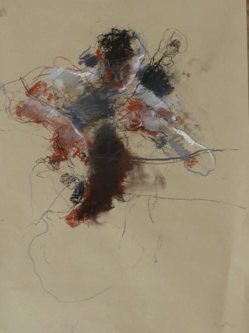 iamjapanese:  Caroline Deane(British) Russian Cellist Pastel on paper