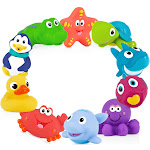 Nuby Little Squirts Bath Squirts, 10 Pack,