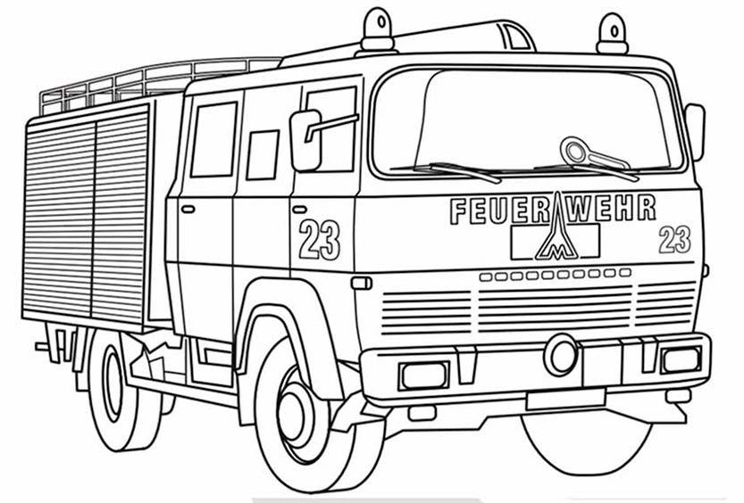 Ausmalbilder Feuerwehr 8 | Ausmalbilder