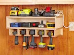 Cordless Tool Station Woodworking Plan - fee plans from WoodworkersWorkshop® Online Store - tool cabinets,cordless tools,drills,full sized patterns,woodworking plans,woodworkers projects,blueprints,drawings,blueprints,how-to-build