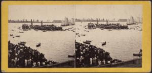 The winning boat passing the j... Digital ID: G91F193_006F. New York Public Library