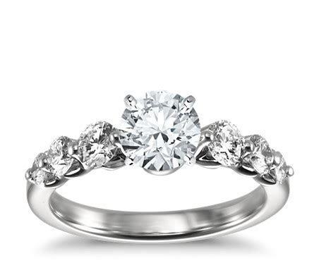 Floating Diamond Engagement Ring in Platinum (3/4 ct. tw