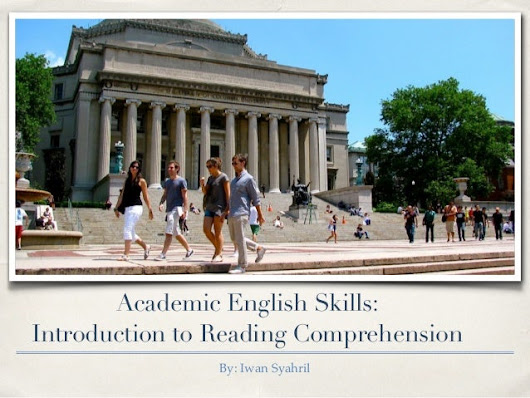 Academic English Skills: Reading Comprehension