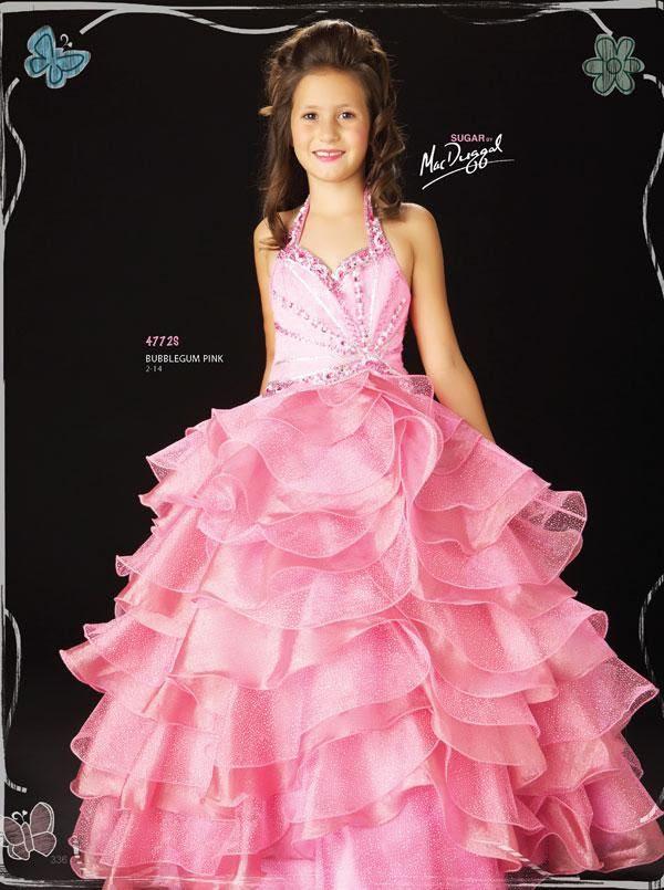 Hot pink Flower Girl Part Pageant Wedding Dress W1