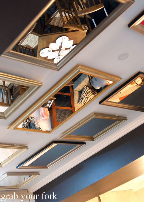 mirrored ceiling at lamesa phillipine cuisine haymarket chinatown