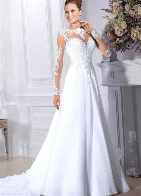 Elegant wedding dresses with sleeves (update August