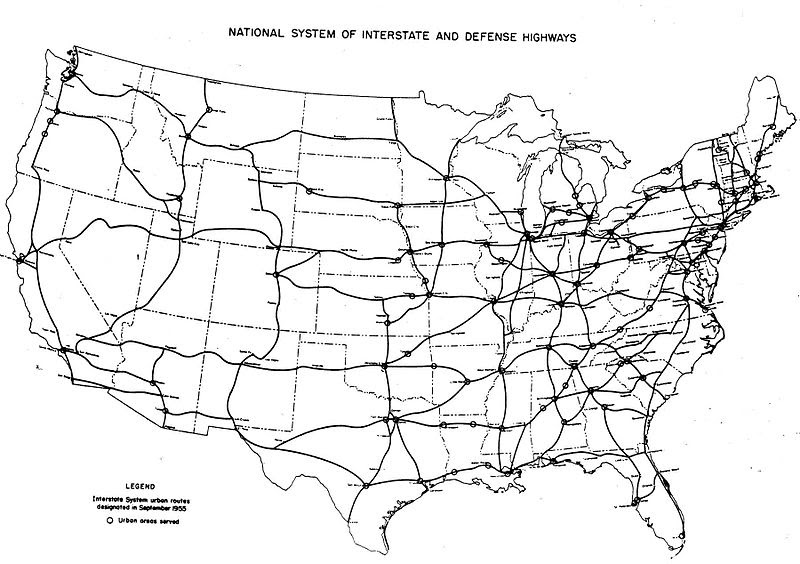 Us Map Interstates - Map of us states with major highways
